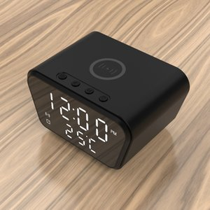 10W Wireless Chargers With Digital Clock Indoor Temperature Display Multifunctional For Smartphone