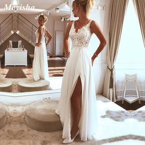 ZJ9219 A line for women Spaghetti Straps Beah Wedding Dress Lace Tulle Simple Bridal Gowns Customer Made Plus Size 2 4 6 8