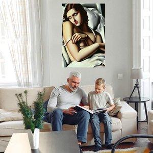 Tamara de Lempicka Untitled Home Decor Grande pintura a óleo sobre lona Handpainted / HD-Print Wall Art Imagens 210318