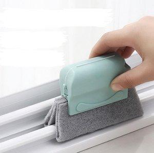 Window Groove Nettoyage Brush Crevice Nettoyant Outils de nettoyage à la main Brosses de la tête Conception de la tête Pad à récurer Matériau Fenêtres Windows Diapositives et lacunes GWF6016