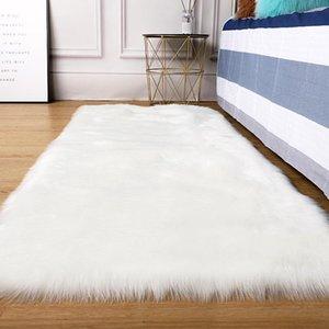 Carpets Carpet Faux Fur Sheepskin Rugs Living Room Bedroom Floor Mat Home-Decor Anti-Slip Rug Soft Fluffy White 6x8 Feet