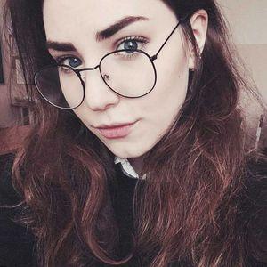 DCM Yeni Tasarımcı Kadın Alaşım Optik Çerçeveleri Metal Yuvarlak Gözlük Çerçeve Şeffaf Lens Eyeware Bayanlar Göz Cam