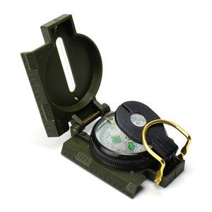 Portable pliable objectif boussole multifonctionnel de randonnée en extérieur de randonnée verte marine Compass voiture multifonction 643 x2