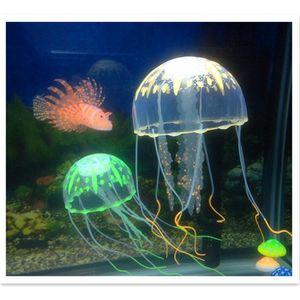 Nadado artificial Efecto brillante Efecto Acuario Decoración de acuario Tanque de peces subacuático Planta en vivo Ornamento Luminoso Adornos de paisaje acuático