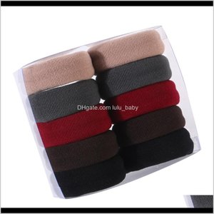 10Pcs Women Girls High Elasticity Medium Thick Rolled Towel Rope Candy Solid Color Rubber Band Ring Ponytail Holder Jssey Accessories Pmp72