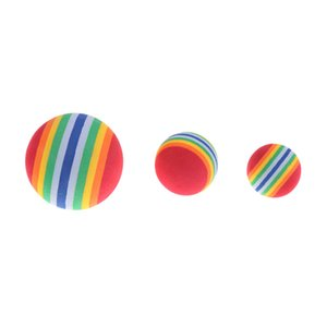 Rainbow Cat Dog Ball Pets Activities Funny Balls Kid Foam Sponge Balls Elastic Pet Dog Toys LLE7297