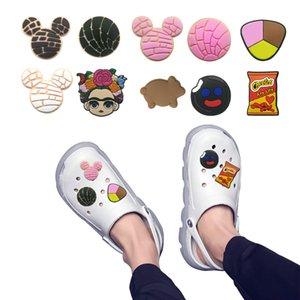 moq=2lots mexico theme shoe charms wholesale jibitz for croc soft rubber PVC charm accessories promotional mixed 10 kinds