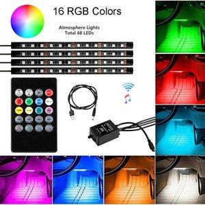 LED PCB مجلس سيارة RGB Libient Light 48LED One for أربعة التحكم الصوتي النائية 1x12 لوحة مصفوفة شاشة الوحدات النمطية