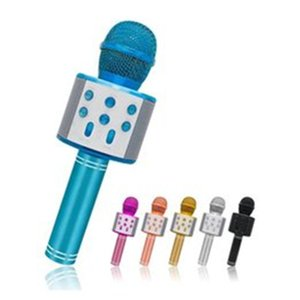 With package WS-858 Wireless Speaker Microphones Portable Karaoke Hifi Bluetooth Player For XS 6s 7 ipad iphone Samsung Tablets PC PK Q7 Q9
