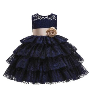 2021 New Summer Girl Dress Upscale 3-14 yrs princess Dresses girls Wedding Sequins Embroidered Formal Girl Birthday Party Dress 210326