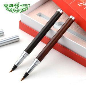 Hero Hero Sandalwood Metal Pen Brush Calligraphy Soft