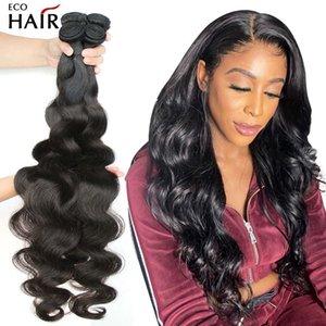 Paquete de onda corporal Wavy Human Hair Weaves 3 4 Bundles Mink Weave Brasilian Color Natural Remy Extensions