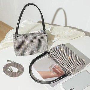 Donne di modo Lussurys Designer Al Wang Borse di strass di Al Wang Strass Full Strass Lampeggiante Bling Diamond Junder Diamond Handbag La mano Porta piccola borsa quadrata