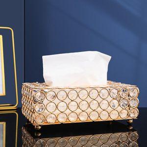 Tissue Boxes & Napkins Crystal Facial Box Holder Cube Napkin Dispenser Bedroom Office El Cafe Coffee House Bar Drop