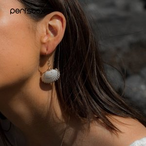 Boho Se Shell Dngle Errings Femle Gold Dipped Scllop White Shell Errings Summer Bech Jewelry Pendientes Conch
