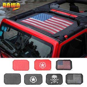 BAWA Car Sunshade Mesh Top Cover Provides UV Sun Protection Black 2 Door Accessories for Jeep Wrangler JK JKU 2007-