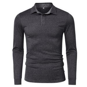 Men's Polo Shirt Long Sleeve quick drying Sports Golf men's long sleeve T-shirt polo shirt