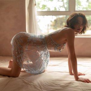Соблазнительное сексуальное женское белье женское кружево собрано перспектива чистая марлевая соблазнительная юбка Pajamas