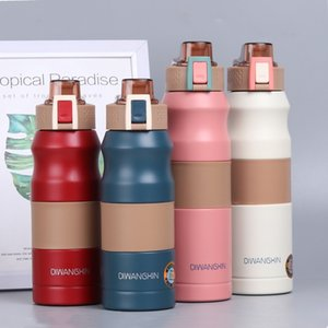 Stainless Steel Water Bottle Direct Drinking Red White Blue Sports and Outdoor Travel Camping Hiking Metal Tumbler