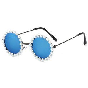Gafas de sol para niños Suministros de fiesta diseñador de marca Pearl Polarized Eyewear Niños Anti-UV Bebé Sombre de sol Sombreado EyeGlasses GWE5346