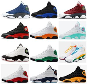13s Flint Rouge Bred Hyper Royal Chicago Basketball Chaussures Hommes 13 Il a eu un jeu Obsidian Starfish Lucky Green Aurora Green Playground Sneakers