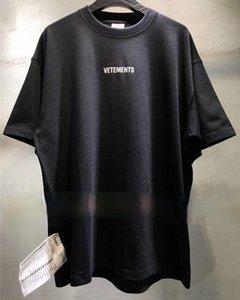 Sticker Vetements Kadın Erkek T-Shirt 1: 1 Yüksek Kaliteli Boy 280g Penye Pamuk Vetements Tees Vetements T Gömlek