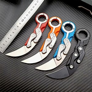 Karambit folding pocket knife Stainless steel+ABS Portable counter strike mechanical claw knifes tactical rescue cutter HW188