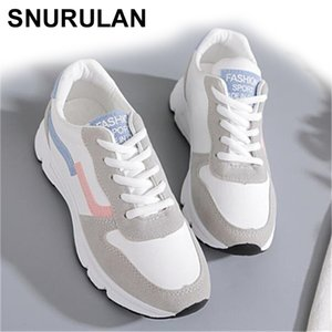 SNURULAN new sneakers; spring season; Vulcanized women's casual shoes; lightweight breathable flat shoes 210322