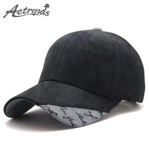 [АЭТРЕНДЫ] Замшевая ткань бейсбольная кепка мужчины женщины хлопок Snapback Hats Z-6244 J1225