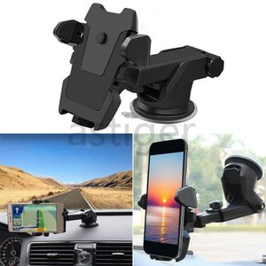 Rotazioni a 360 ° Porta automatico regolabile Supporto per il supporto del parabrezza Staffa di montaggio del parabrezza per meno di 6 pollici Telefoni intelligenti cellulari mobili