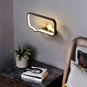 Wall Lamps Nordic Minimalist Aisle Lamp Modern Bedroom Bedside Living Room Led Light Super Bright Creative Storage Kitchen Fixtures