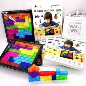 New children's adult Tetris pioneer silicone desktop puzzle bubble music press toy