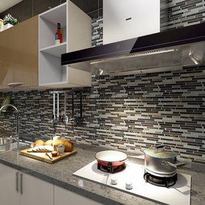 Art3D 30x30 cm 3D Duvar Çıkartmaları Mutfak Banyo, Duvar Kağıtları (10 parça) için kendinden yapışkanlı soyma ve stick backsplash karo