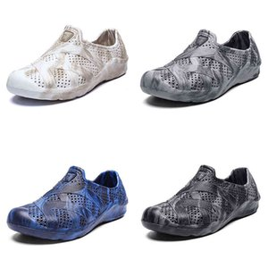 men water shoes summer beach shoe classic light grey white fashion home outdoor soft work sneaker mens breathable sports trainer