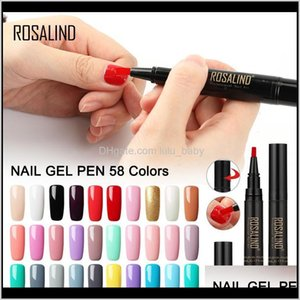 One Step Gel Nail Polish Pen 5Ml 58 Colors Soak Off Top White Nail Brush Pen Nails Art Semi Permanent Uv Hybrid Ky0Ru 8F4Ye