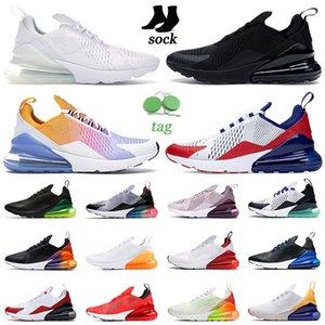 air max 270 airmax 270s koşu ayakkabıları üçlü siyah beyaz kırmızı kadın erkek Chaussures Bred Be True BARELY ROSE erkek eğitmenler Açık Spor Sneakers