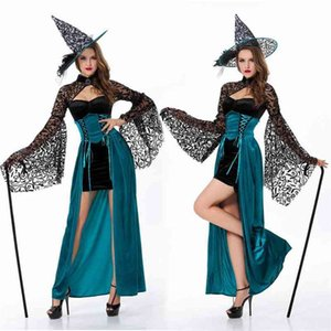 2014 new long witch game UNIFORM Halloween Dress Witch Costume role play