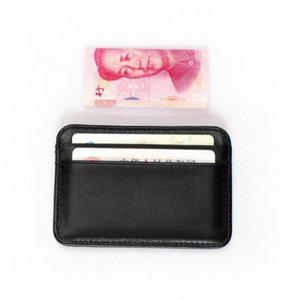 Card Holders 100% Sheepskin Genuine Leather Case Mini ID Holder Small Purse For Man Slim Men's Wallet Cardholder