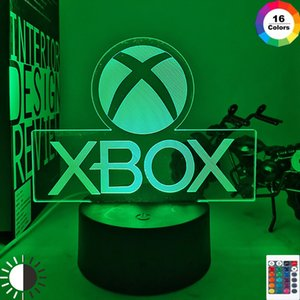 Game XBOX Home Best Present for Boy LED Night Light USB Directly Supply Cartoon App Control Children Birthday Gifts 3d Lamp