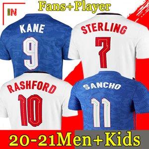 Футболка 2020 2022 KANE STERLING RASHFORD SANCHO HENDERSON BARKLEY MAGUIRE 20 22 национальные футбольные майки мужские + детские комплекты комплекты униформы