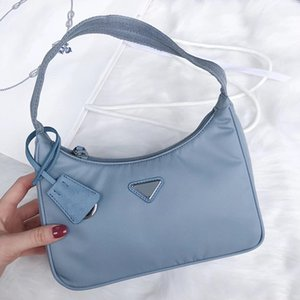 Women 2021 Designers Shoulder Bag Handbags Baguette Nylon Lady Luxurys High Quality Multiple Colors Fashion Tote Purse