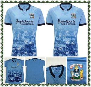 2021 Coventry City Futbol Formaları Biamou Godden Jobello Bakayoko Shipley Kelly Jones Allen Çelenk Özel 20 21 Ev Mavi Futbol Gömlek
