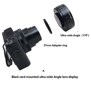 Lens Adapters & Mounts For Digital Camera 37mm Adapter Ring 170 Degree Super Wide-angle Add-on Zv1 Black Card Accessories