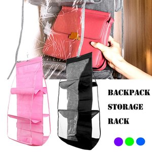 Pocket Hanging Handbag Purse Bag Tidy Organiser Storage Wardrobe Closet Hanger Clear Sundry Shoe With Pouch Boxes & Bins
