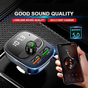 Car Bluetooth FM Transmitter 5.0 Mp3 Player Handsfree Audio Receiver 3.1A Dual USB Fast Charger Support TF U Disk
