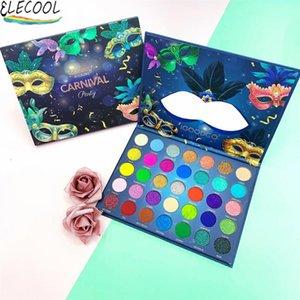Eye Shadow ELECOOL Makeup Sweet Party Eyeshadow Pallete Neon Palette 35 Shimmer Glitter Matte Shades Matellic Blendable Pigment Cosmetics