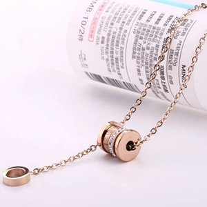 Net red jewelry titanium steel transfer small Manyao Necklace female student Korean version simple clavicle chain Roman Tassel Necklace