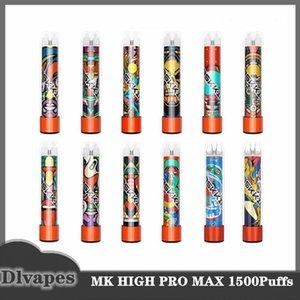Maskking High Pro MAX-Einweg-Vape-Stift-Zigaretten 1500 Puffs 4,5ml Kapazität 850mAh-Batterie 13 Farbe vs ...