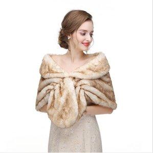 Wraps & Jackets Wedding Accessories For Dresses Evening Winter Cape Jacket Bridal Bolero Coat Stole Faux Fur Fabric Brides