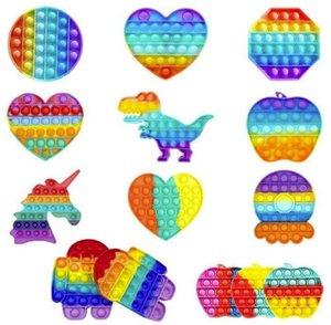 Décompression enfants poussent des cadeaux POP Tye-colorant noctilucent jouets bulle autisme anxiété stress de soulagement silicone popise les jouets fidèles